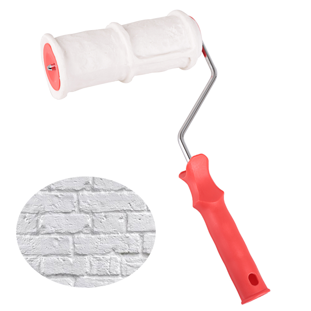 Brick Pattern Paint Roller Household Wall Decoration Brush  Environmental Protection Tool Art Paint Texture Rolling Flower Roll