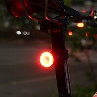 Gub 062 indução inteligente luz da cauda de freio mtb bicicleta almofada luz tubo do assento luz velocidade detecção aviso lâmpada ciclismo