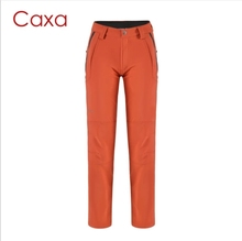 Caxa Women Outdoor Slim Elastic Hiking Pants waterproof Warm ski pants Winter Camping Thicken Fleece Snowboard soft shell Trouse