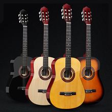 Acoustic Guitar Classic 19-Fret Solid-Wood 6-Strings Beginner for 38''