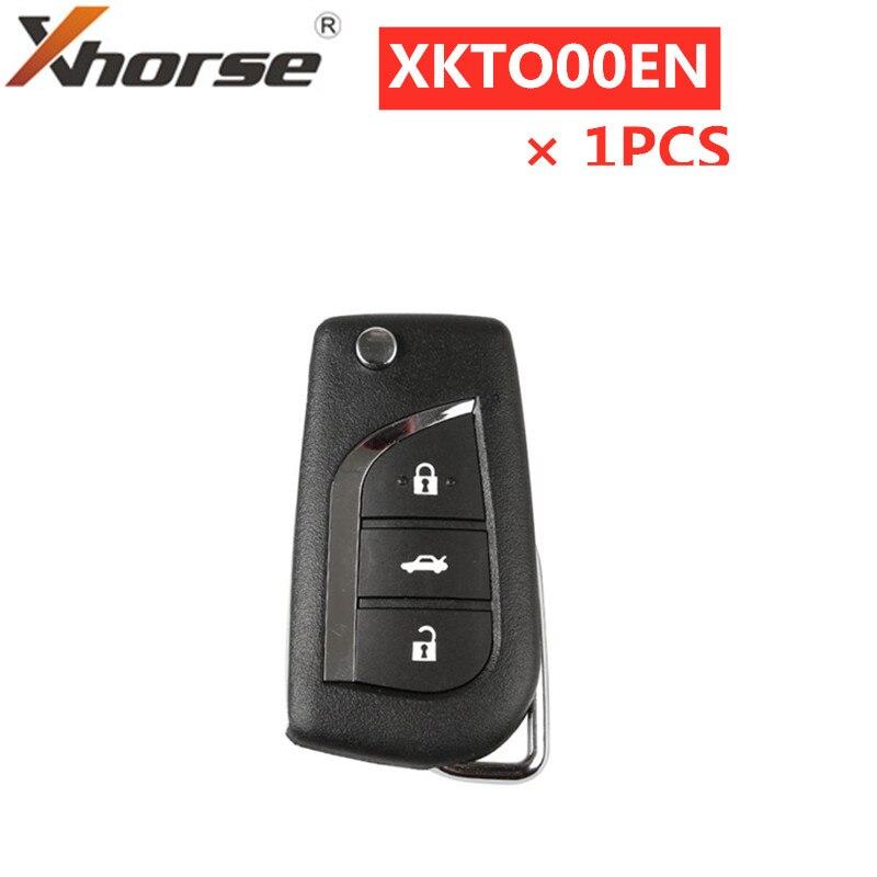 Универсальный проводной дистанционный ключ XHORSE для Toyota, 3 кнопки, английская версия XKTO00EN, 1 шт.-0