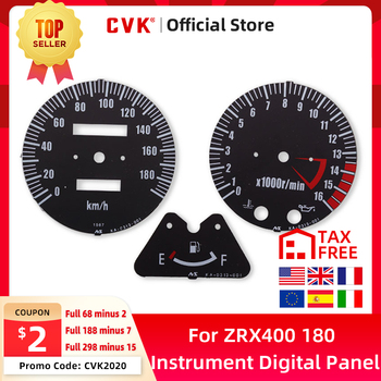 цена на CVK Instrument Speedometer Face Plate Panel Digital Dial Dashboard For Kawasaki ZRX400 ZRX750 ZRX1100 ZRX1200 ER5