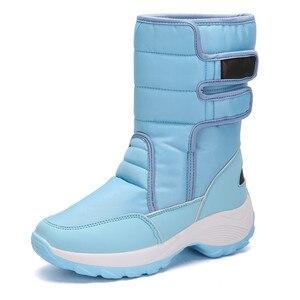 Image 3 - MORAZORA 2020 שלג מגפיים עמיד למים החלקה עבה פרווה חם חורף נעלי בוהן עגול שטוח פלטפורמת מגפי נשים קרסול מגפיים