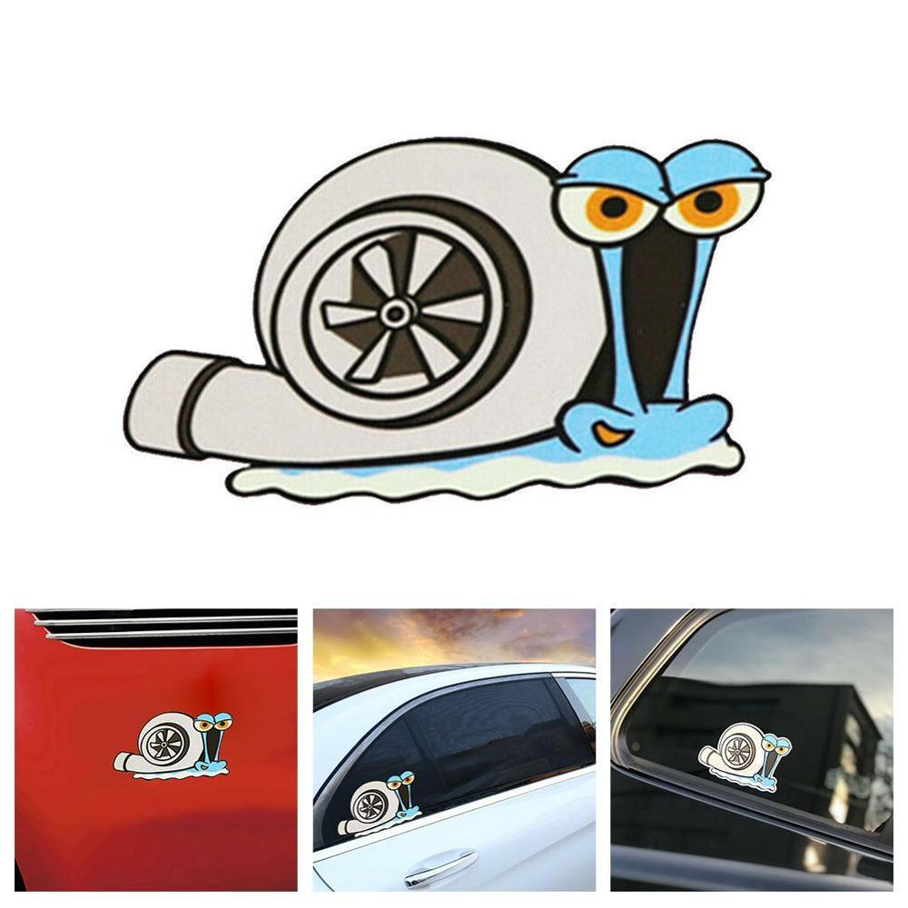 High Quality Cute Snail Turbo Stickers Vinyl Motorcross Racing Decal Reflective Car Sticker Accessories For Motorbike Cars
