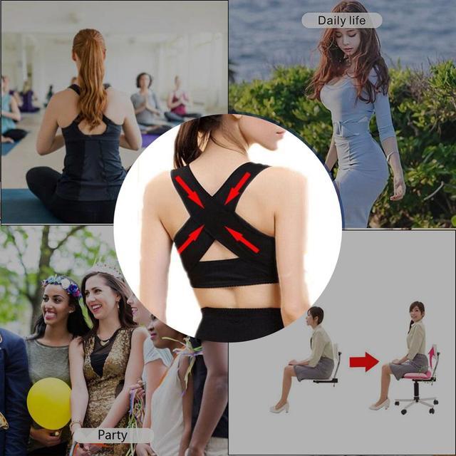 1PC Women Chest Posture Corrector Support Belt Body Shaper Corset Shoulder Brace for Health Care Drop