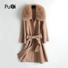 Pudi women 90% wool blends coat jacket Female winter warm re