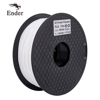 1KG/Roll PLA Filament 3D Printer White Color 1.75mm plastic Consumables Material for Ender printer/Creality 3D/3D pen