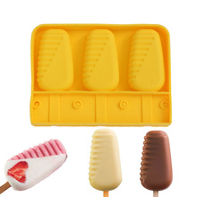 1PCS Silicone Original Shape Moulds With Stick For Healthy Ice Cream Parfait Lolly Mold Cube Acapulco Baking Frozen Food Tools