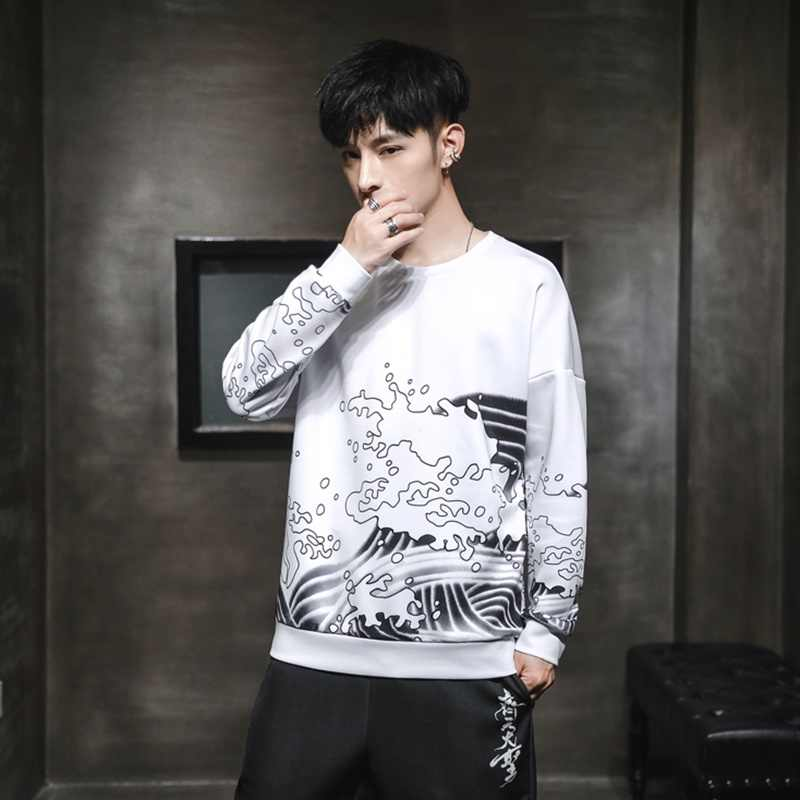 Sinicism Mens Vintage Chinesische Streetwear Hoodies Männer 2019 Herbst Hip Hop Pullover Männlichen Langarm Oversize Sweatshirts KK3282