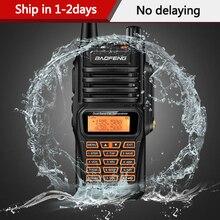 Baofeng Walkie Talkie UV 9R Plus, resistente al agua, 8 vatios, Radio bidireccional, banda Dual, portátil, 10km, largo alcance, UV9R, CB Ham