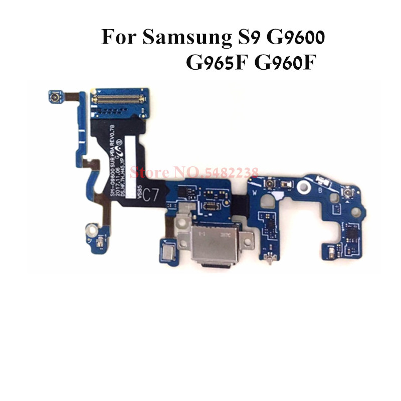 Original USB Charging Dock Port Flex cable For Samsung <font><b>S9</b></font> <font><b>G9600</b></font> G965F G960F Charger plug board With microphone Replacement Parts image