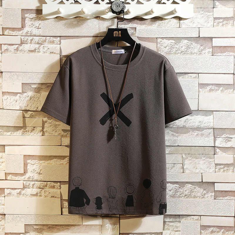 半袖tシャツ男性 2020 夏の高品質tシャツトップtシャツ定番ブランドファッション服プラスサイズM-5XL oネック
