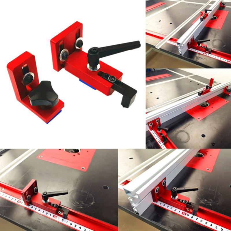 Miter Track Stop T-track Sliding Bracket Fits For 30/45 T-Track Woodworking Tool Sliding Chute T-Track Durable Aluminum Alloy