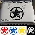 50x50 см Новая Большая наклейка s Cars Army Star наклейка для джипа наклейка на капот автомобиля Наклейка Большая виниловая Военная графическая накл...