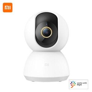 Image 1 - Xiaomi PTZ 2K akıllı kamera 360 derece panoramik 3MP IP kamera ev güvenlik kamera monitör gece görüş Video kamerası akıllı kamera
