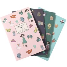 4 pcs/Lot A5 Notebook 30 Sheets Kawaii Stationery Cute Notepad Diary Book Journal Record Office School Supplies For Kids Gifts