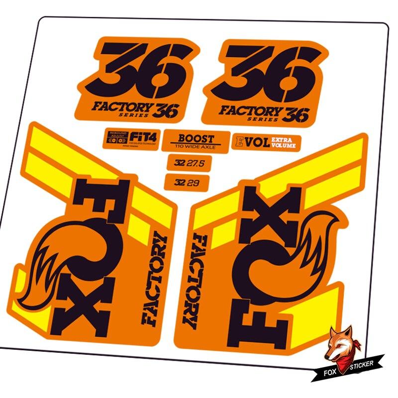 FOX 40 Elite Performance 2017-18 Fork Suspension Factory Decal Sticker Orange 1