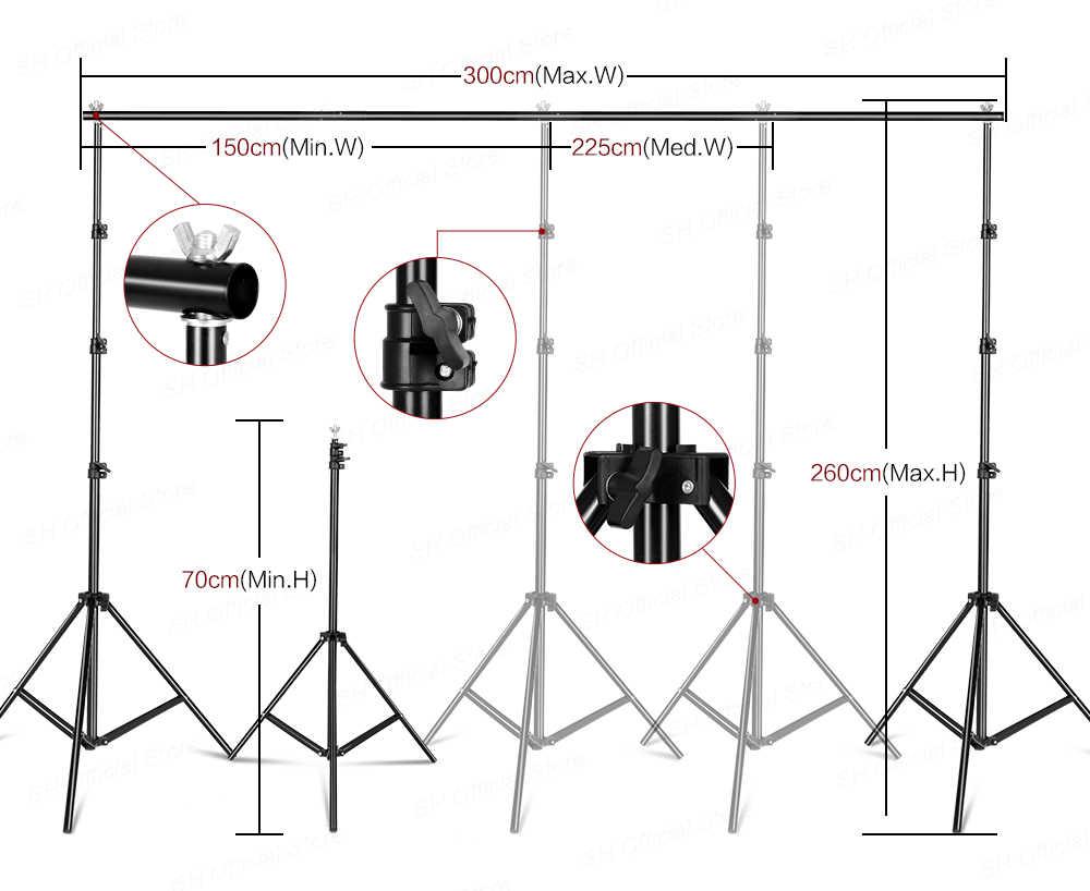 Набор для освещения софтбокса для фотостудии с рамкой для фона 2,6x3 м 3 шт. фоны штатив стойка отражатель доска 4 зонта