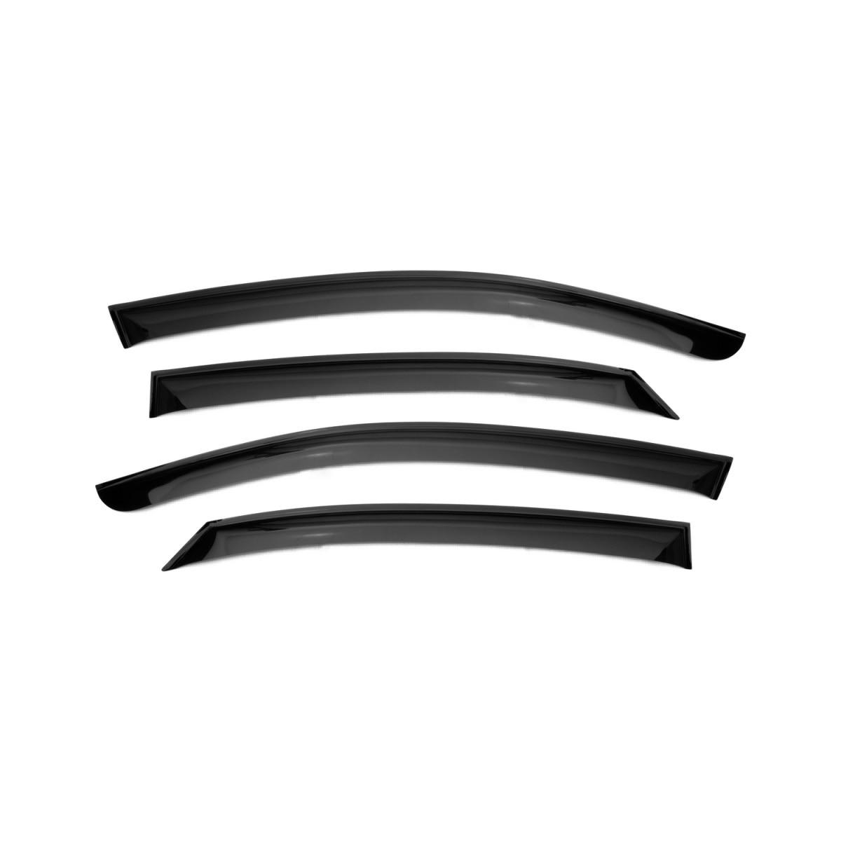 Window Deflector (patch Scotch Tape 3 M) 4 PCs Hyundai Solaris, 2017-(