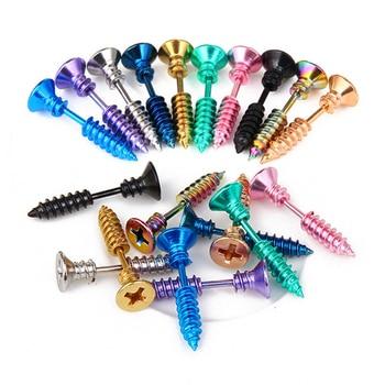 1PC Unisex Women Men Earrings Stainless Steel Piercing Nail Screw Stud Earrings Punk Helix Ear Piercings.jpg 350x350 - 1PC & Unisex Women Men Earrings Stainless Steel Piercing Nail Screw Stud Earrings Punk Helix Ear Piercings Fashion Jewelry