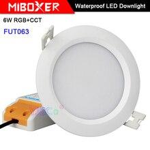 Miboxer 6W RGB+CCT Waterproof LED Downlight FUT063 AC 100V-240V Round Brightness adjustable Ceiling Spotlight