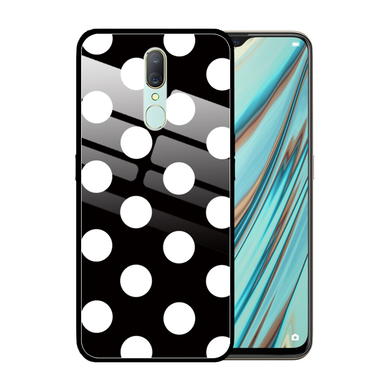 Cute Dot <font><b>Girls</b></font> Luxury Tempered Glass <font><b>Case</b></font> Cover for <font><b>OPPO</b></font> A11X A9 2020 A5 A3 A1 A83 A77 A59 A7X <font><b>A57</b></font> Coque Funda image