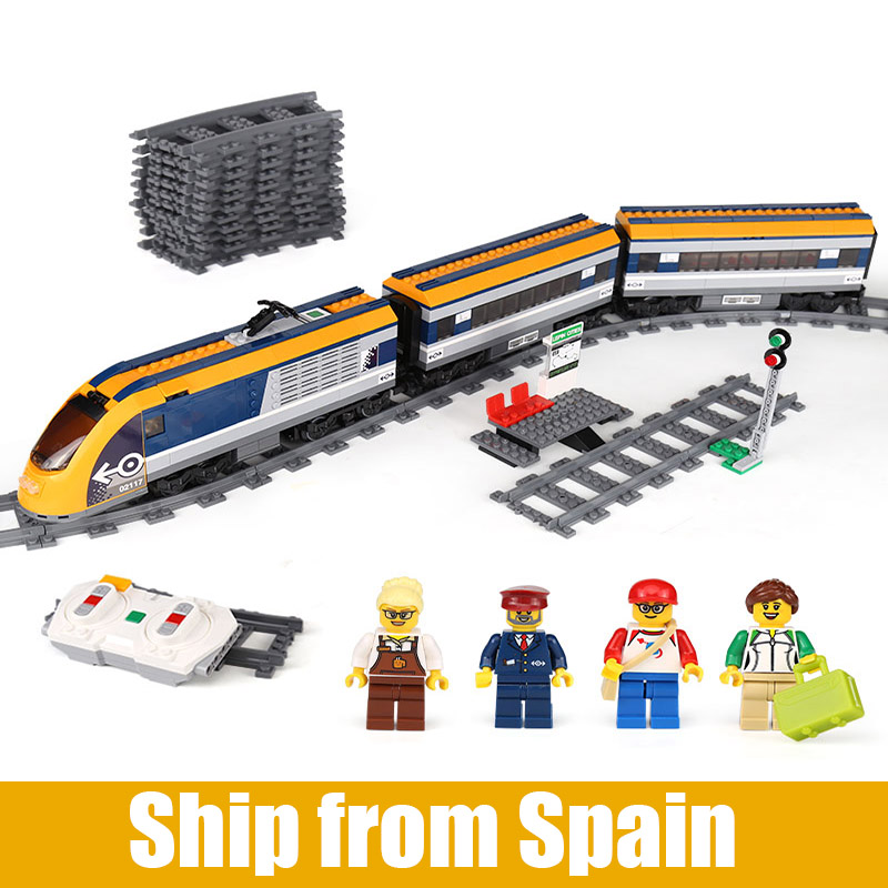 02117 City Train รถไฟโดยสารชุด 60197 อาคารบล็อกอิฐของเล่นเด็กเช่นวันเกิดคริสต์มาสของขวัญ-ใน บล็อก จาก ของเล่นและงานอดิเรก บน   1