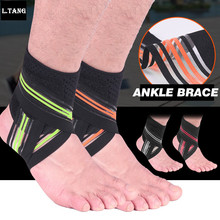 Sports Ankle Brace Compression Basketball Running Cyciling Ankle Bandage Support Strap Wrap Fitness Gym Foot Safety L675