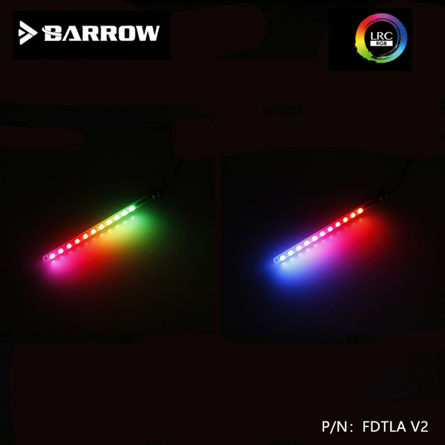 Barrow LRC2.0 AuraLED  Water Tank Light Multi Length Glass Soft Light Component 5vfor155/205/255/305MMSwitchable Multiple Colors
