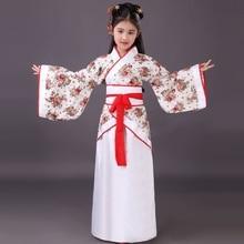 Детский традиционный костюм для китайских танцев, детское платье с длинными рукавами для девочек, детская одежда, Древний китайский стиль