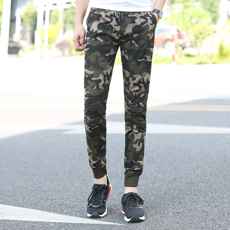 Emperor Too Bird Autumn New Products Pure Camouflage Washing Fabric Military Style 9 Points Trousers