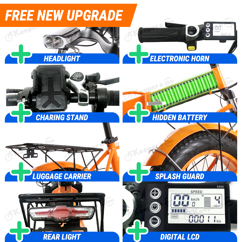 2020 neue elektrische fahrrad Fett reifen 500W mountainbike 7 Geschwindigkeit 45 km/h batterie ebike 20