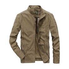 Новая мода весна осень Мужская умная Повседневная куртка со стоячим воротником пальто Куртка бомбер мужская одежда размера плюс M-4XL