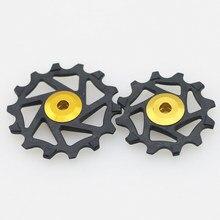 Mtb bicicleta cerâmica + rolamento de resina jockey roda polia traseira da bicicleta desviador ciclismo 12t 14t para xx1 x01 bicicleta ciclismo peças