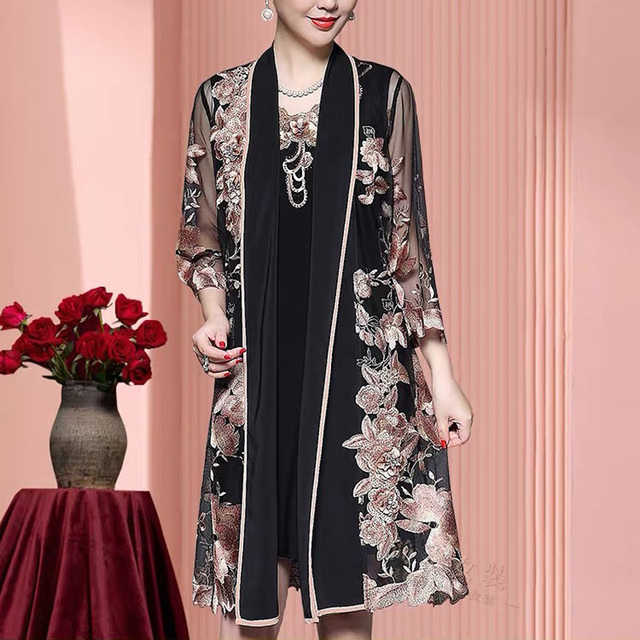 Big Offer 78c3 2020 New Elegant Mother Of The Bride Dresses With Jacket Elegant Formal Women Dresses Embroidery Mother Wedding Party Gowns Cicig Co