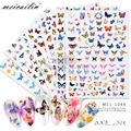 1 PC New Nail Art Self-Adhesive Nail Sticker Tip Decals Decoration Cartoon Cute Butterfly Design DIY Manicure Accessories Tool