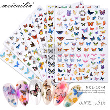 1 PC New Nail Art Self-adhesive Nail Sticker Tip Decal Decoration Cartoon Cute Butterfly Design DIY Manicure Accessories Tool