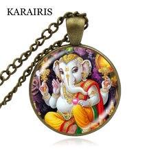 Ожерелье karairis lord ganesh ganesha индуистский слон ожерелье