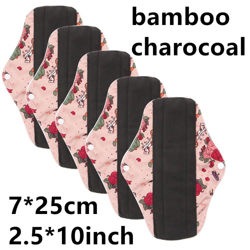 5pcs Washable Menstrual Pads Reusable Sanitary Napkin For Women Reusable Pads Washable Sanitary Female Towel Adult Diaper pant