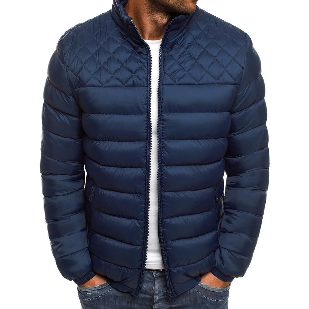 2019 New Winter Jacket Parker Men's Autumn And  Warm  Brand Slim   Casual Windbreaker Quilted  Men