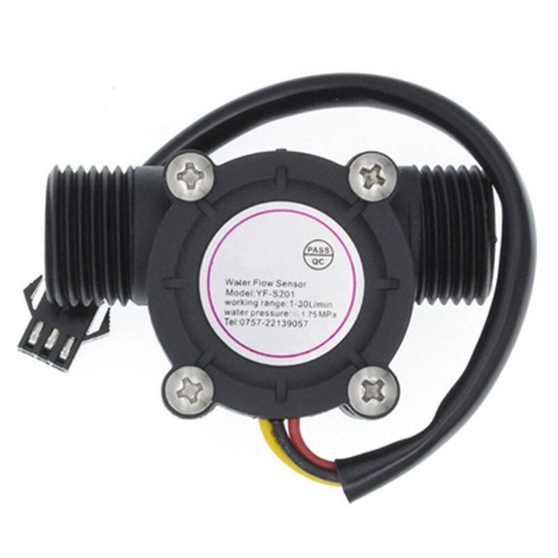 Постоянный ток 5-18V поток воды Сенсор расходомер зал Сенсор воды Управление потока жидкости 1-30L/мин 2.0MPa Сенсор переключатель YF-S201
