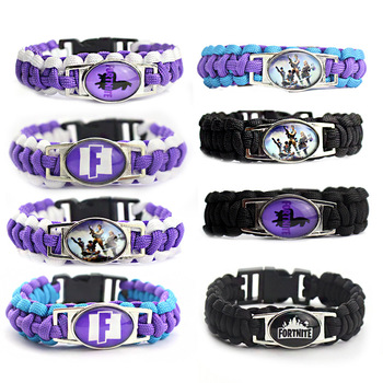 Fortnite Game Children Bracelet Game Anime Braided Bracelet DIY Personality Outdoor Sports wristband Kids Hand Strap Toy Gifts