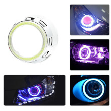 цена на 2 pcs Running Headlight Lamp Halo Rings COB Angel Eyes  LED Headlight  Car Motorcycle Light Bulb Lamp 60mm-120mm