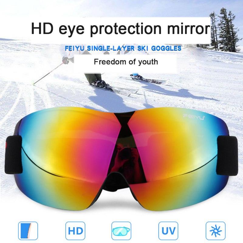 Unisex Outdoor Climbing Ski Anti-fog Ski Goggles Frameless Anti-ultraviolet Skis Mountaineering Goggles