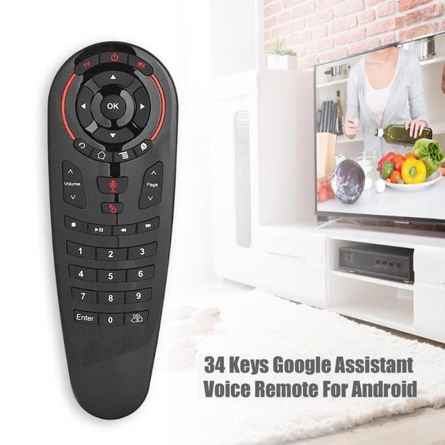 G30 sinek hava fare sesli uzaktan kumanda 2.4G kablosuz klavye için USB alıcı ile kablosuz uçan sıçan 6 eksenli jiroskop sensörü