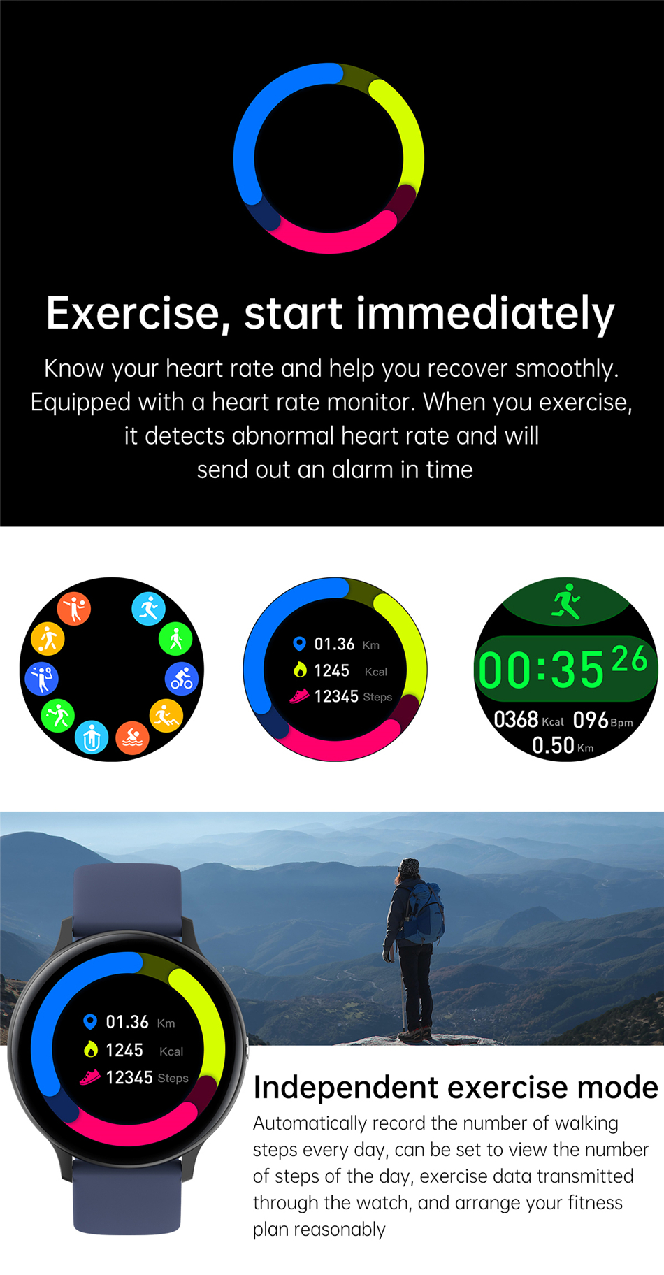 H2fa192f4719e44cd9392a4aa41dd94c9J 2021 Bluetooth Call watch Smart watch For men And women Full touch fitness tracker Blood pressure Smart clock ladies Smart watch