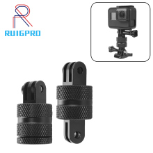 RuigPro 360 Degree Swivel Rotating Aluminium Tripod Mount Adapter for GOPRO Hero 3+ 4 5 6 7 8 9 Session/Xiaomi Yi/SJ