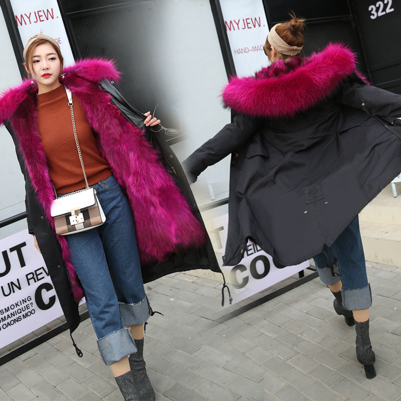 Send to overcome the new 2019   parka   long fur coat in winter