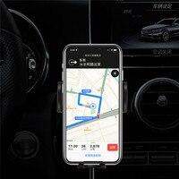 Smart Draadloze Auto Telefoon Oplader Houder Voor Iphone/Android Smartphones Touch Sensor Mobiele Telefoon Snel Opladen Houder Beugel