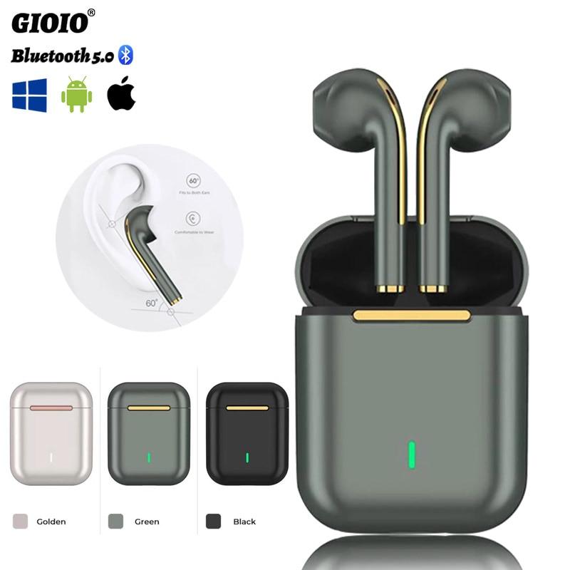 J18 Tws Draadloze Hoofdtelefoon Bluetooth Waterdichte IPX5 Hifi-Geluid Muziek Oortelefoon Voor Iphones Huawei Samsung Xiaomi Sport Headset